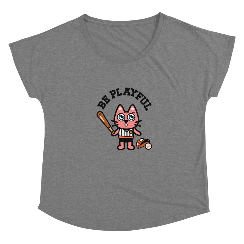 i am baseball player Women's Scoop Neck by beatbeatwing's Artist Shop