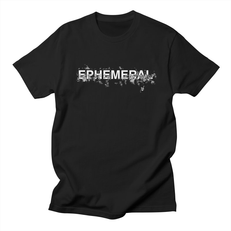 "Word ""Ephemeral"" in a minimal design in Men's Regular T-Shirt Black by Beatrizxe"