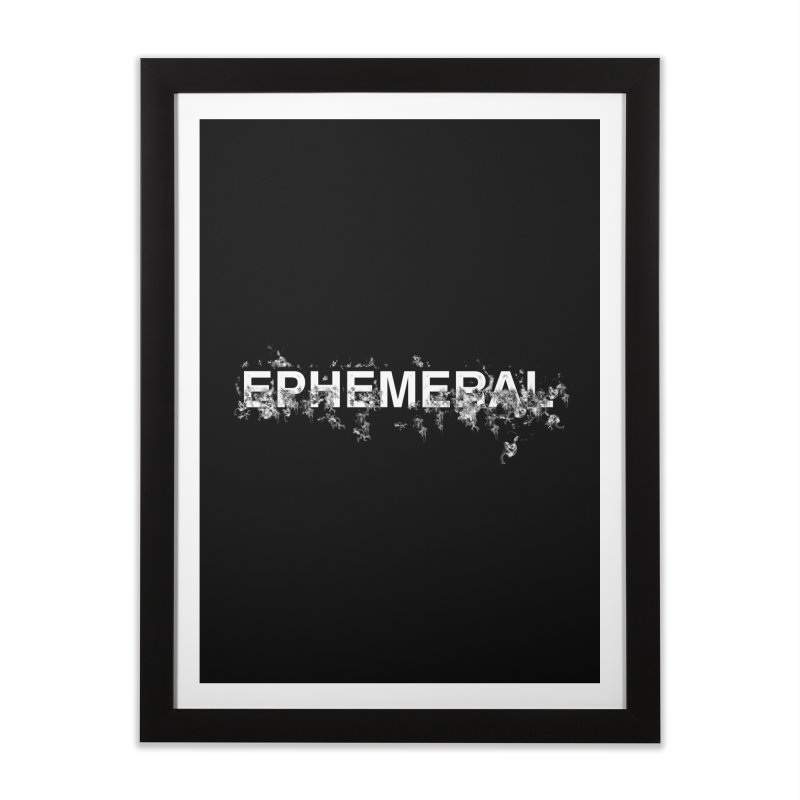 """Word """"Ephemeral"""" in a minimal design   by Beatrizxe"""