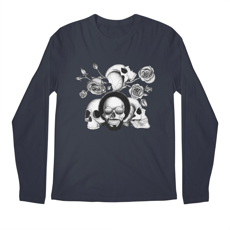 Grunge skulls and roses (afro skull included. Black and white version)   by Beatrizxe