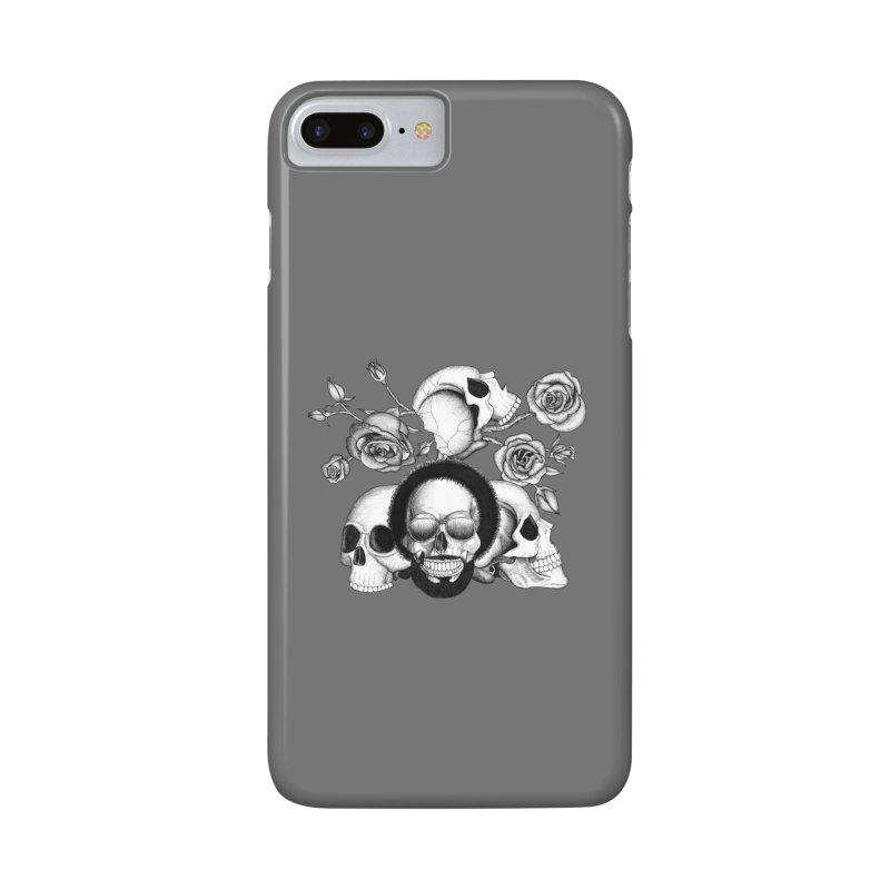 Grunge skulls and roses (afro skull included. Black and white version) Accessories Phone Case by Beatrizxe