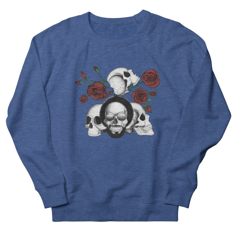 Grunge skulls and red roses (afro skull included. Color version) Men's Sweatshirt by Beatrizxe