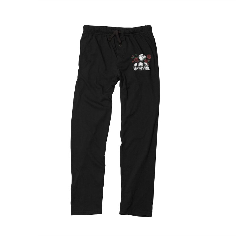 Grunge skulls and red roses (afro skull included. Color version) Men's Lounge Pants by Beatrizxe