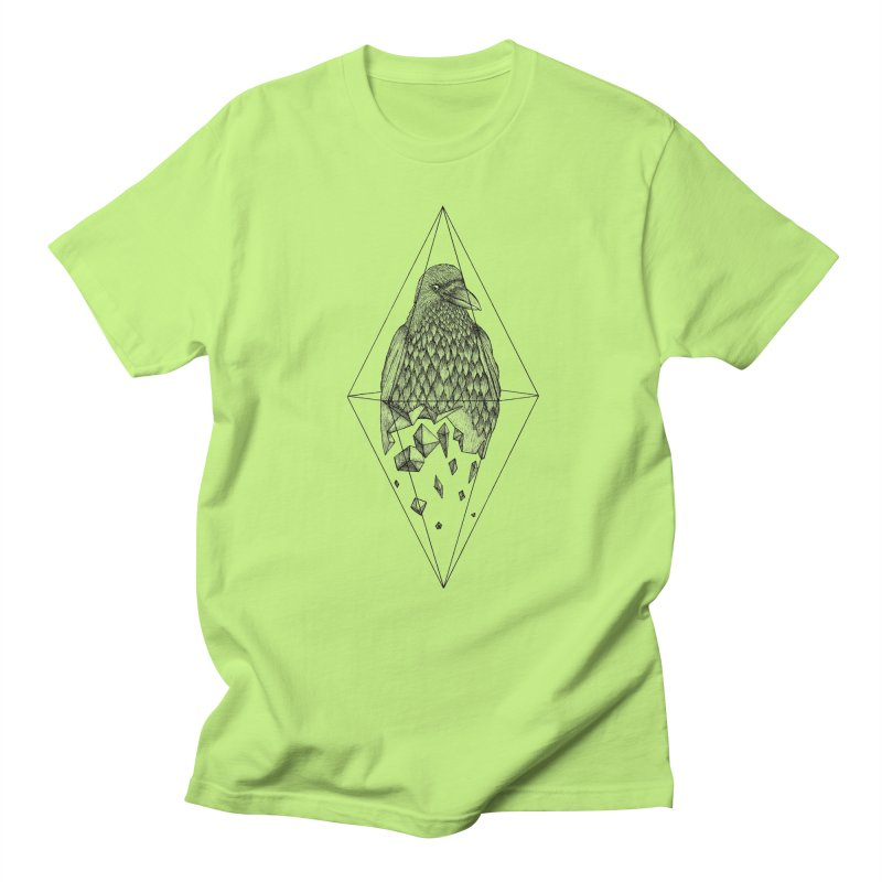 Geometric Crow in a diamond (tattoo style- Black and White version) Women's Unisex T-Shirt by Beatrizxe