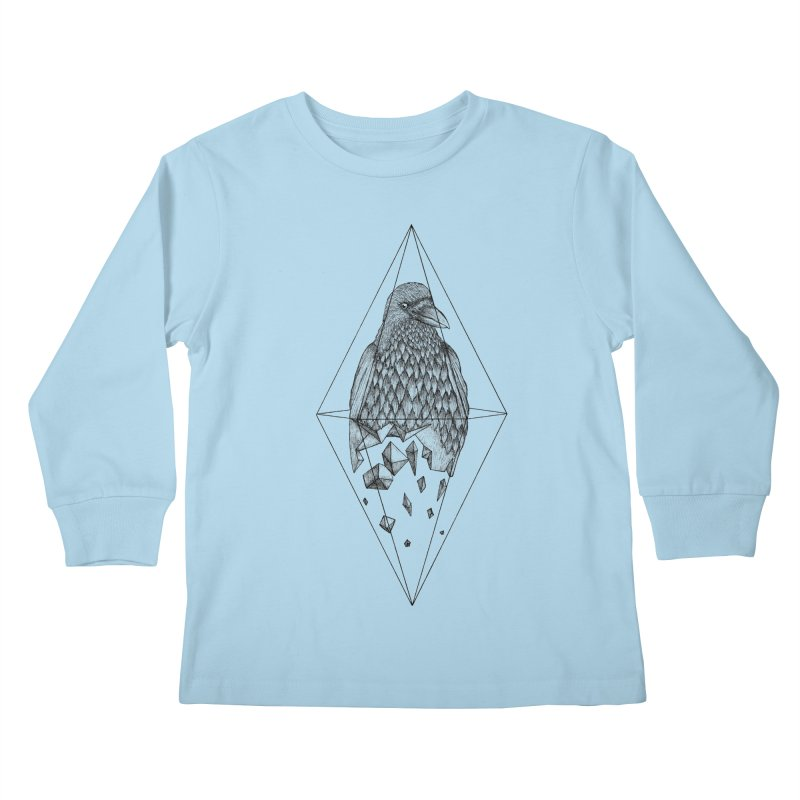 Geometric Crow in a diamond (tattoo style- Black and White version)   by Beatrizxe