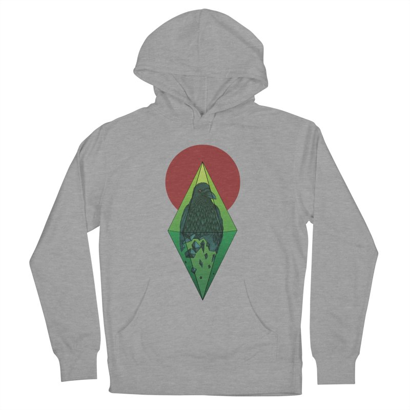 Geometric Crow in a diamond (tattoo style- Color version) Women's Pullover Hoody by Beatrizxe