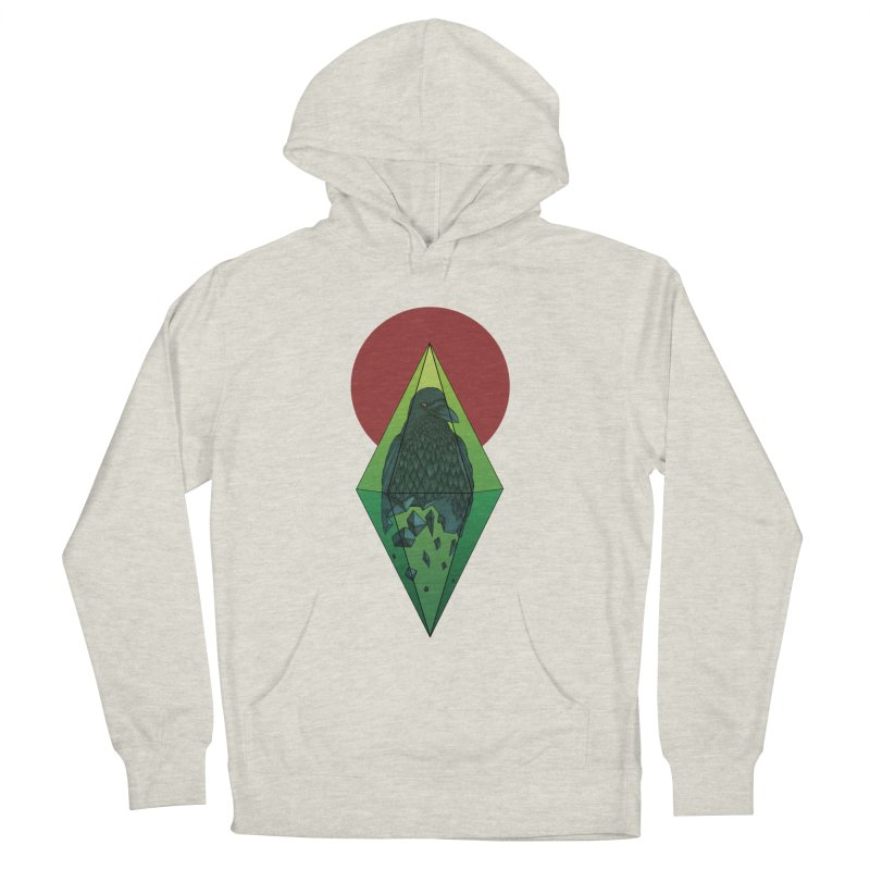 Geometric Crow in a diamond (tattoo style- Color version) Men's Pullover Hoody by Beatrizxe