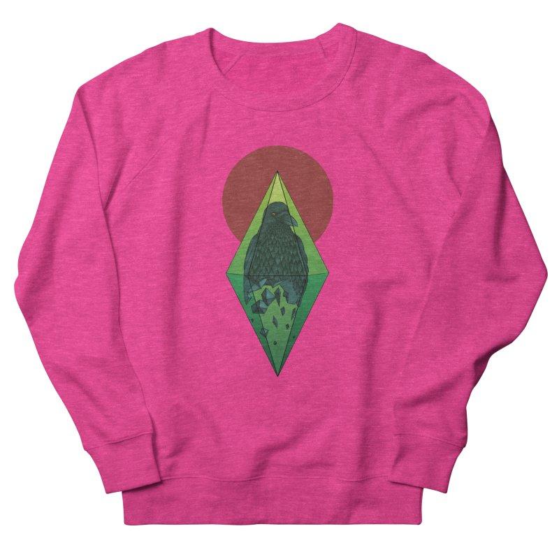 Geometric Crow in a diamond (tattoo style- Color version) Women's Sweatshirt by Beatrizxe