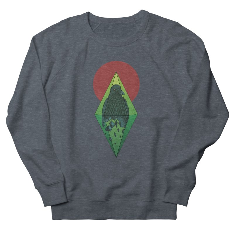 Geometric Crow in a diamond (tattoo style- Color version) Men's Sweatshirt by Beatrizxe
