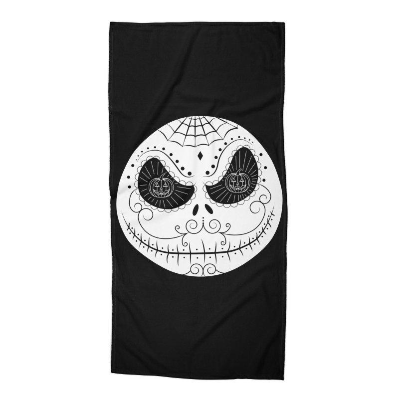 Jack Skellington's Skull Sugar (Nightmare Before Christmas - Vector Mexican Skull) Accessories Beach Towel by Beatrizxe