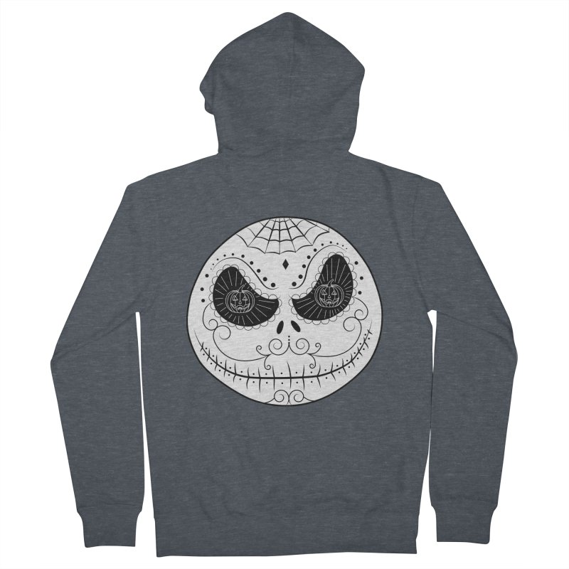 Jack Skellington's Skull Sugar (Nightmare Before Christmas - Vector Mexican Skull) Women's Zip-Up Hoody by Beatrizxe