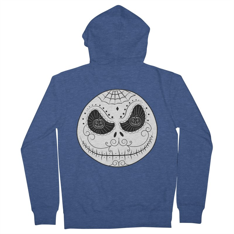 Jack Skellington's Skull Sugar (Nightmare Before Christmas - Vector Mexican Skull) Men's Zip-Up Hoody by Beatrizxe