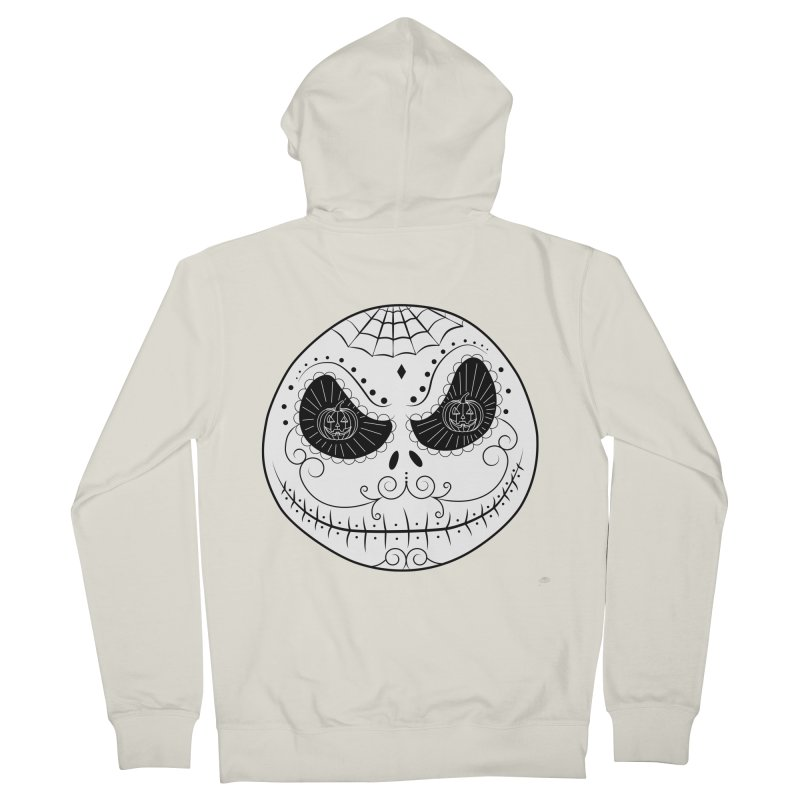 Jack Skellington's Skull Sugar (Nightmare Before Christmas - Vector Mexican Skull) Men's Zip-Up Hoody by Beatrizxe