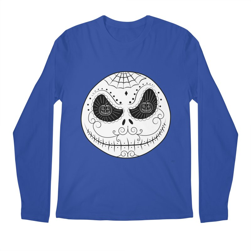 Jack Skellington's Skull Sugar (Nightmare Before Christmas - Vector Mexican Skull) Men's Longsleeve T-Shirt by Beatrizxe