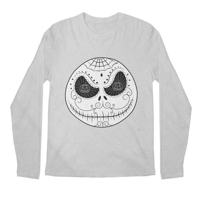 Jack Skellington's Skull Sugar (Nightmare Before Christmas - Vector Mexican Skull) Men's Regular Longsleeve T-Shirt by Beatrizxe