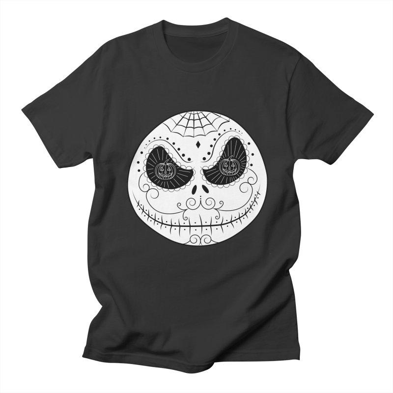 Jack Skellington's Skull Sugar (Nightmare Before Christmas - Vector Mexican Skull) Women's Unisex T-Shirt by Beatrizxe