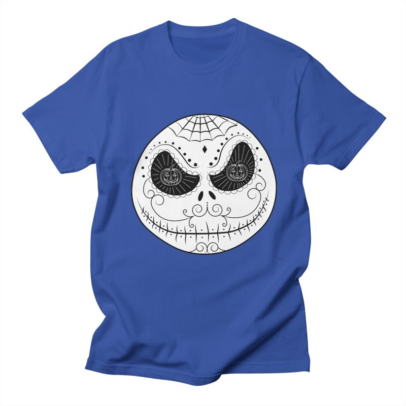 Jack Skellington's Skull Sugar (Nightmare Before Christmas - Vector Mexican Skull) Men's T-shirt by Beatrizxe