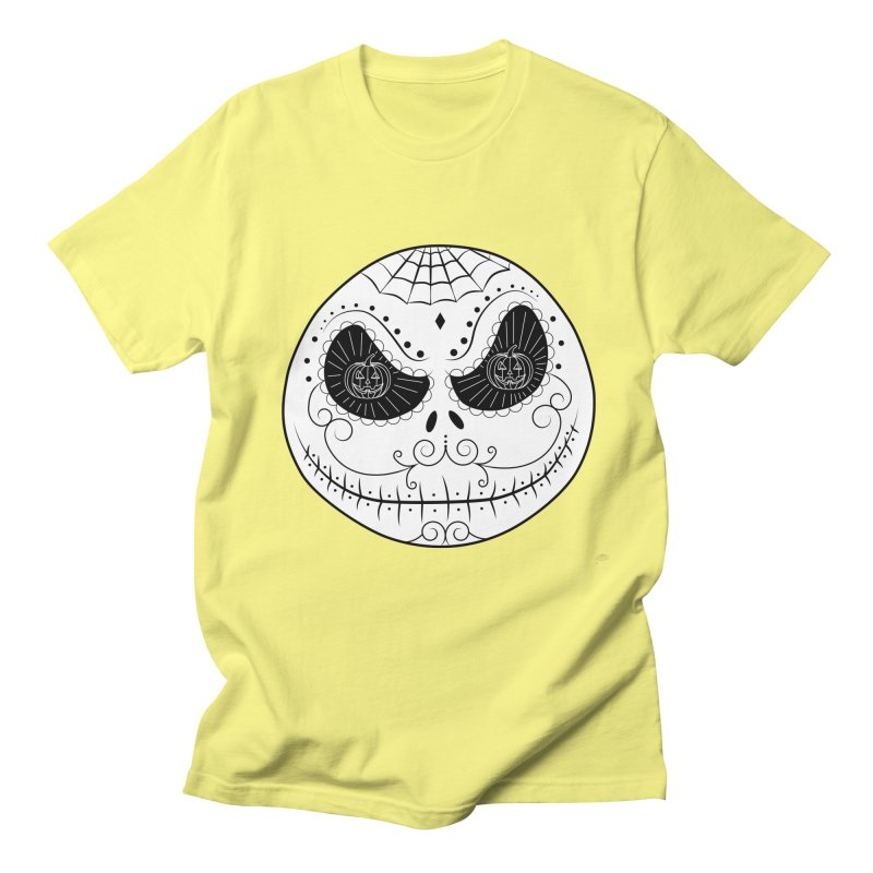 Jack Skellington's Skull Sugar (Nightmare Before Christmas - Vector Mexican Skull) Women's Unisex T-Shirt by Beatrizxe