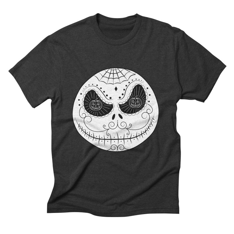 Jack Skellington's Skull Sugar (Nightmare Before Christmas - Vector Mexican Skull) Men's Triblend T-shirt by Beatrizxe