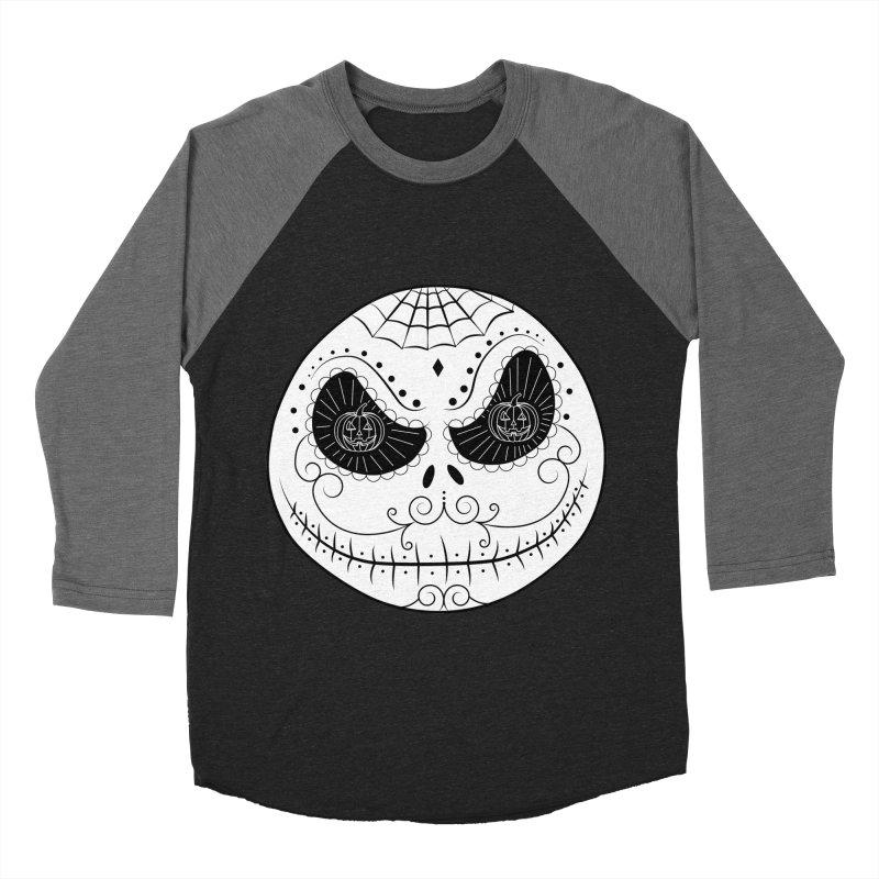 Jack Skellington's Skull Sugar (Nightmare Before Christmas - Vector Mexican Skull) Women's Baseball Triblend T-Shirt by Beatrizxe