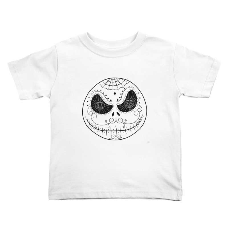 Jack Skellington's Skull Sugar (Nightmare Before Christmas - Vector Mexican Skull) Kids Toddler T-Shirt by Beatrizxe