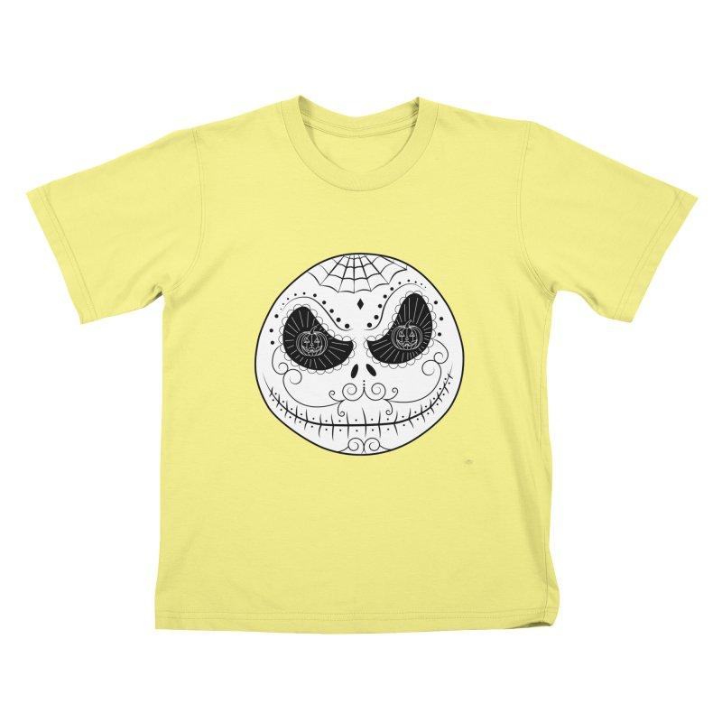 Jack Skellington's Skull Sugar (Nightmare Before Christmas - Vector Mexican Skull) Kids T-shirt by Beatrizxe