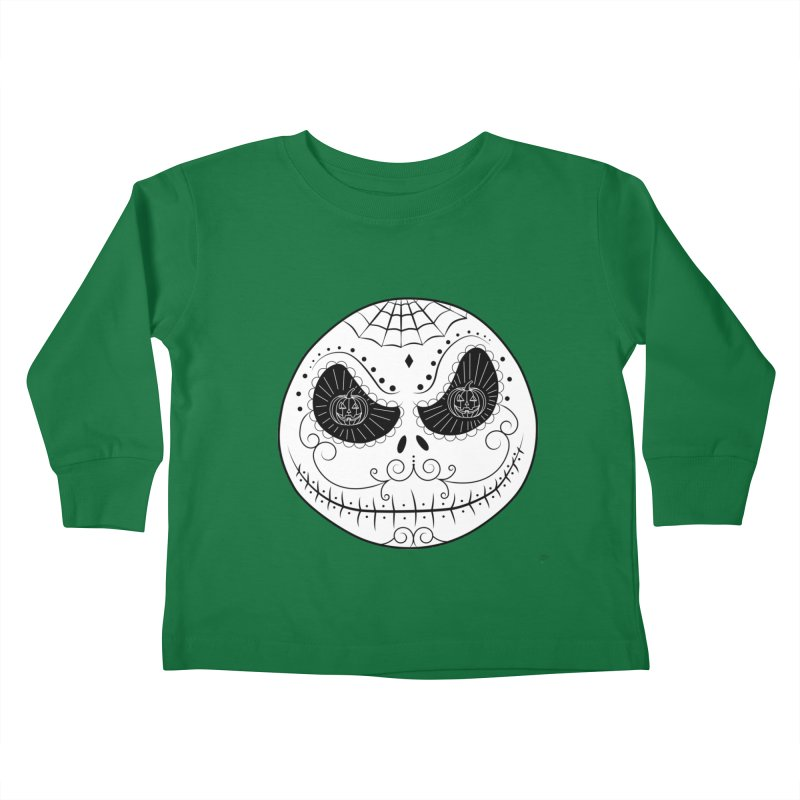 Jack Skellington's Skull Sugar (Nightmare Before Christmas - Vector Mexican Skull) Kids Toddler Longsleeve T-Shirt by Beatrizxe