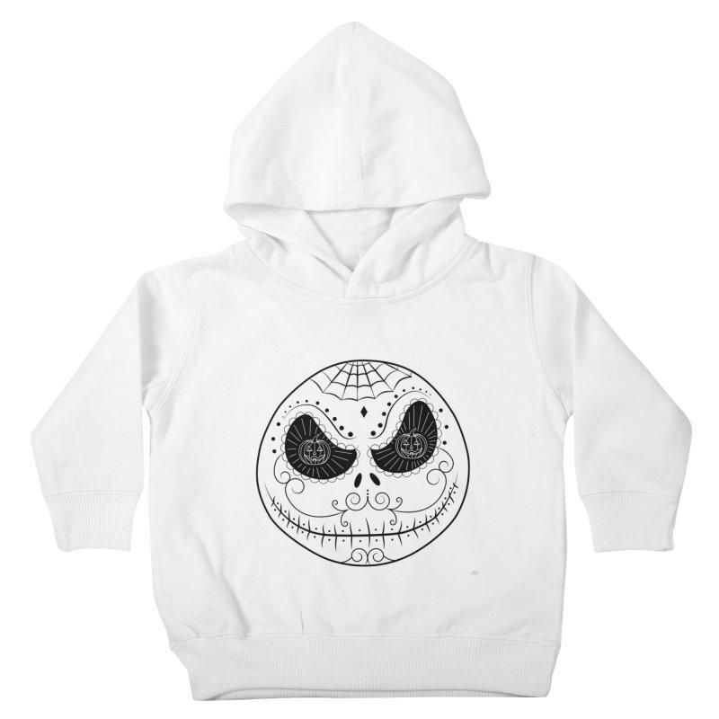 Jack Skellington's Skull Sugar (Nightmare Before Christmas - Vector Mexican Skull) Kids Toddler Pullover Hoody by Beatrizxe