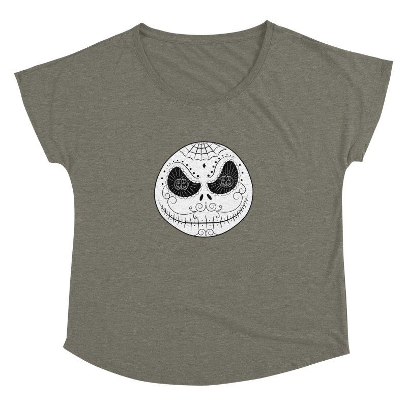 Jack Skellington's Skull Sugar (Nightmare Before Christmas - Vector Mexican Skull) Women's Dolman by Beatrizxe