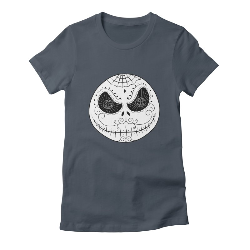 Jack Skellington's Skull Sugar (Nightmare Before Christmas - Vector Mexican Skull) Women's Fitted T-Shirt by Beatrizxe