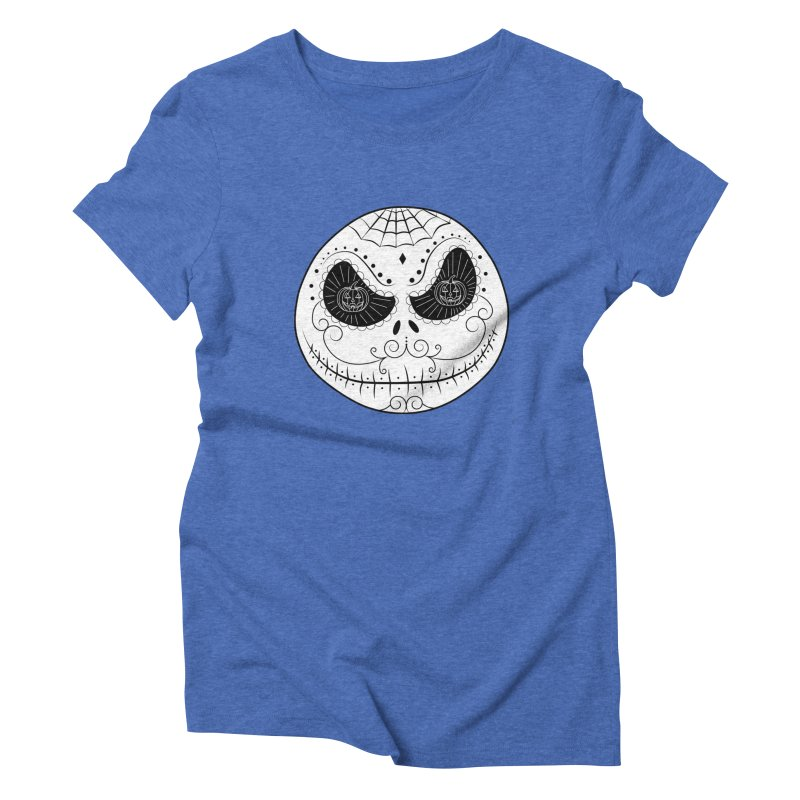 Jack Skellington's Skull Sugar (Nightmare Before Christmas - Vector Mexican Skull) Women's Triblend T-shirt by Beatrizxe