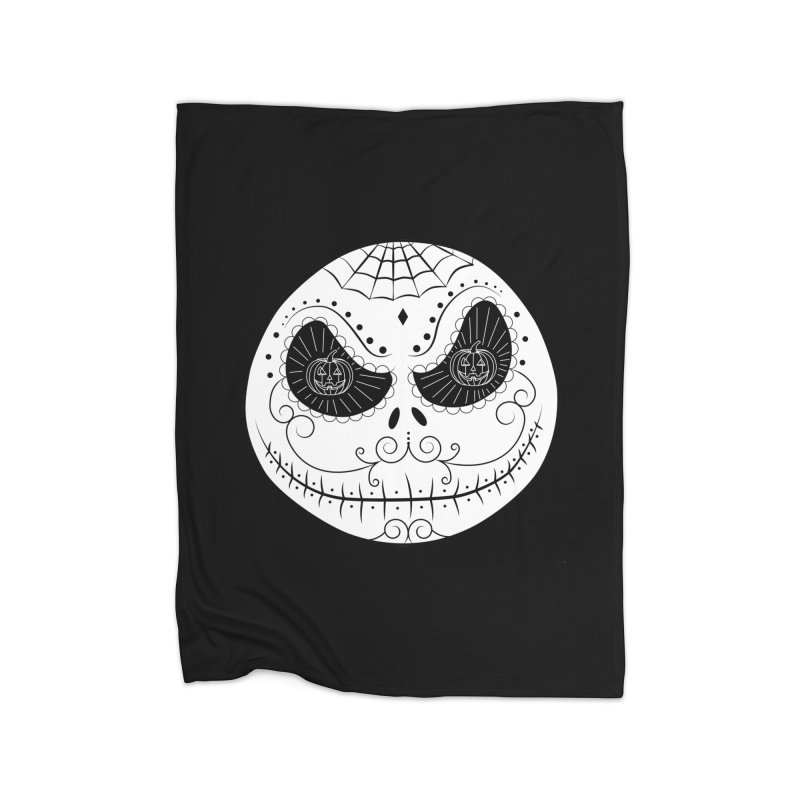 Jack Skellington's Skull Sugar (Nightmare Before Christmas - Vector Mexican Skull) Home Blanket by Beatrizxe