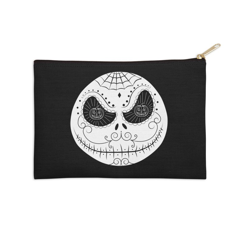Jack Skellington's Skull Sugar (Nightmare Before Christmas - Vector Mexican Skull) Accessories Zip Pouch by Beatrizxe