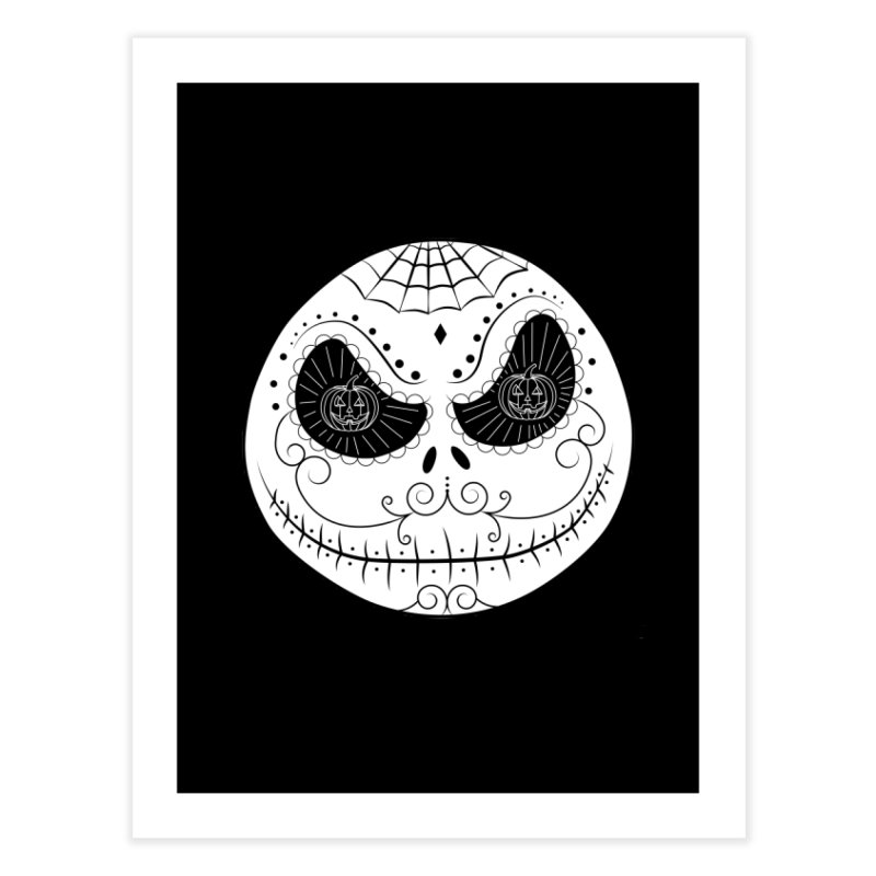 Jack Skellington's Skull Sugar (Nightmare Before Christmas - Vector Mexican Skull) Home Fine Art Print by Beatrizxe