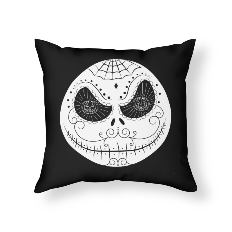 Jack Skellington's Skull Sugar (Nightmare Before Christmas - Vector Mexican Skull) Home Throw Pillow by Beatrizxe