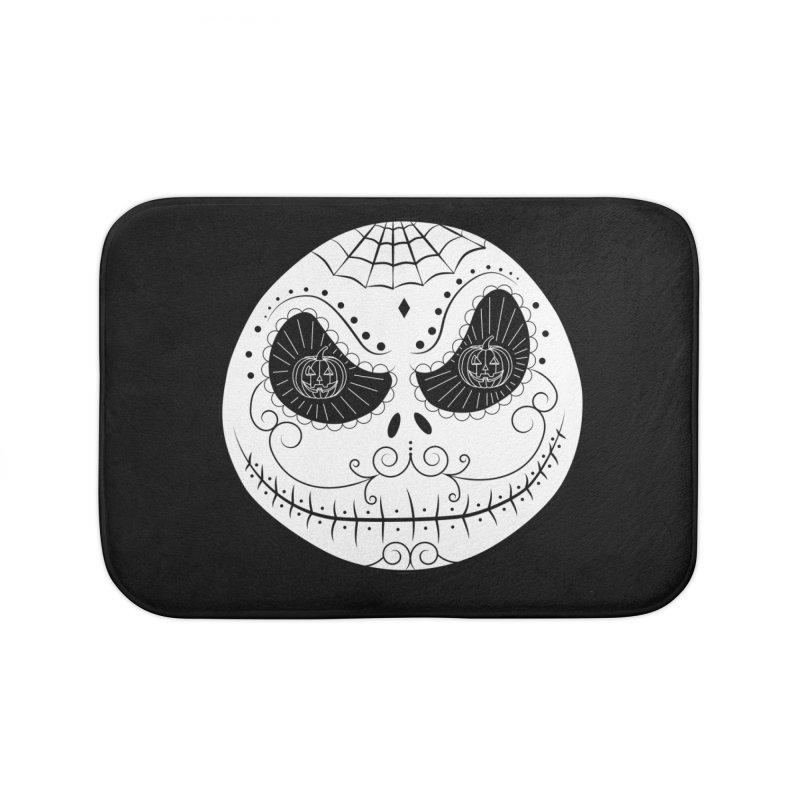 Jack Skellington's Skull Sugar (Nightmare Before Christmas - Vector Mexican Skull) Home Bath Mat by Beatrizxe