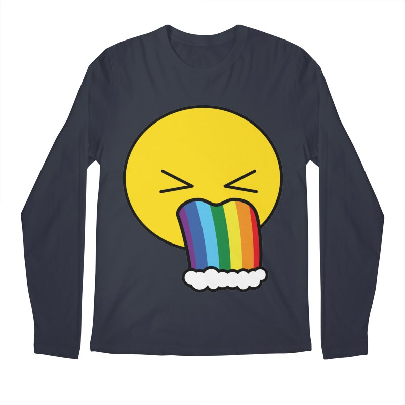 Puke Rainbow - Emoji Men's Regular Longsleeve T-Shirt by Beatrizxe