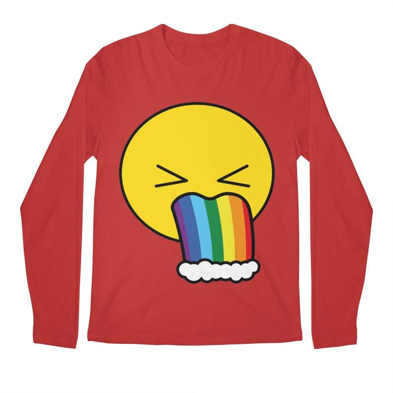 Puke Rainbow - Emoji Men's Longsleeve T-Shirt by Beatrizxe