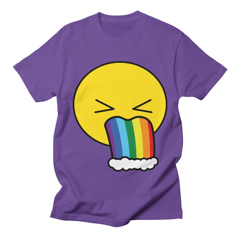 Puke Rainbow - Emoji Men's T-Shirt by Beatrizxe