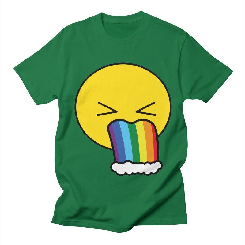Puke Rainbow - Emoji Men's T-Shirt by Beatrizxe
