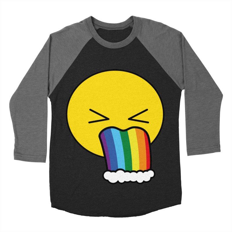 Puke Rainbow - Emoji Men's Baseball Triblend T-Shirt by Beatrizxe