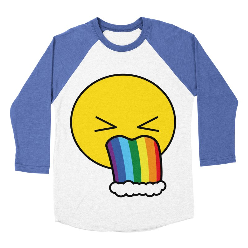 Puke Rainbow - Emoji Men's Baseball Triblend T-Shirt by Beatrizxe