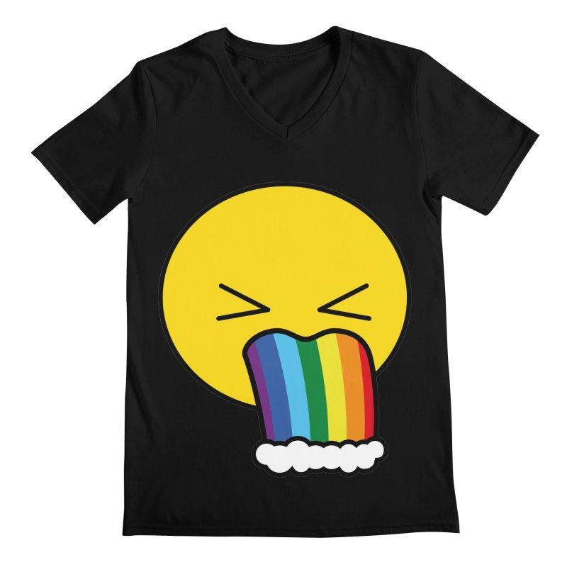 Puke Rainbow - Emoji Men's V-Neck by Beatrizxe