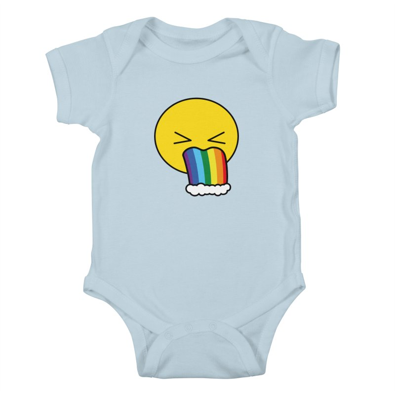 Puke Rainbow - Emoji Kids Baby Bodysuit by Beatrizxe