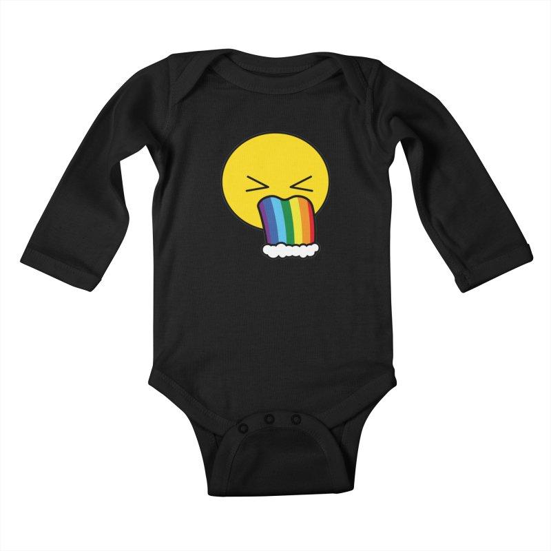 Puke Rainbow - Emoji Kids Baby Longsleeve Bodysuit by Beatrizxe