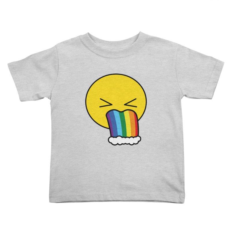 Puke Rainbow - Emoji Kids Toddler T-Shirt by Beatrizxe