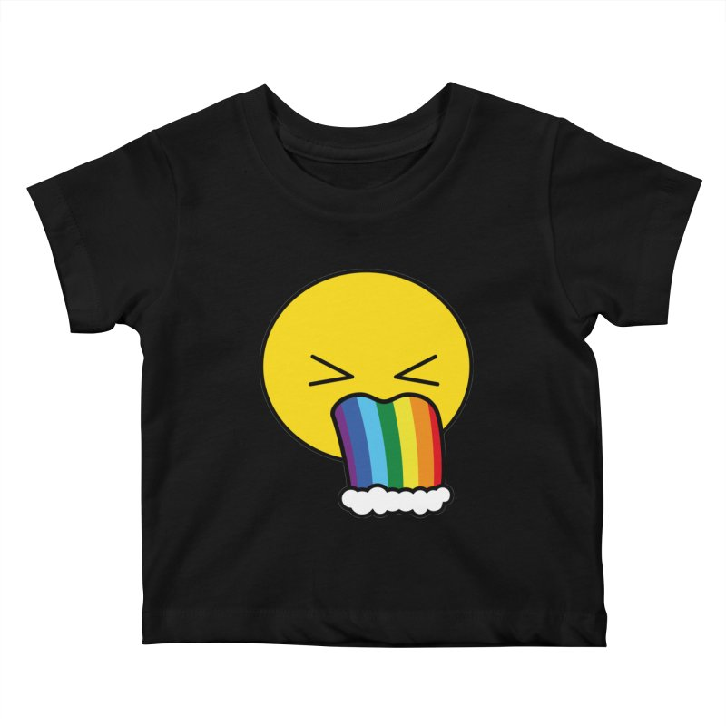 Puke Rainbow - Emoji Kids Baby T-Shirt by Beatrizxe