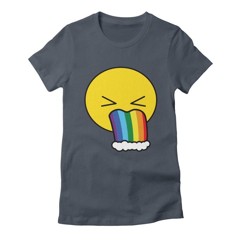 Puke Rainbow - Emoji Women's T-Shirt by Beatrizxe