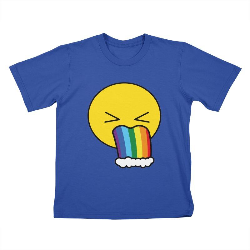 Puke Rainbow - Emoji Kids T-shirt by Beatrizxe