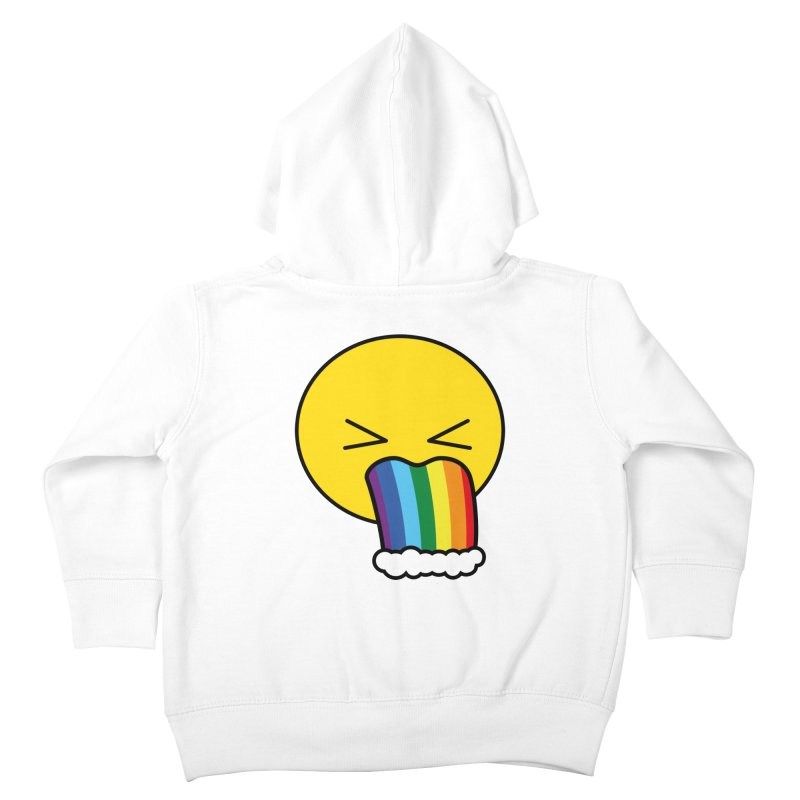 Puke Rainbow - Emoji Kids Toddler Zip-Up Hoody by Beatrizxe